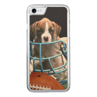 Football boxer puppy carved iPhone 7 case