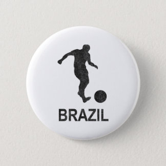 Football Brazil 2 Inch Round Button