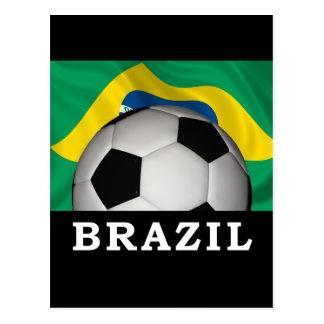 Football Brazil Postcard