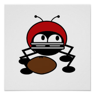 Football Bug T-shirts and Gifts Poster