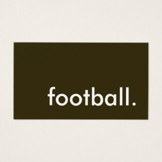 football. business card