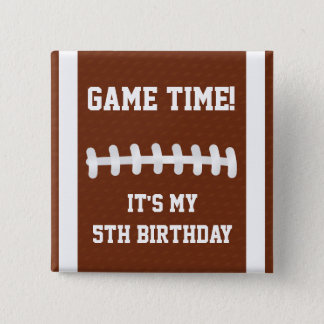 Football Button | Birthday Party Badge