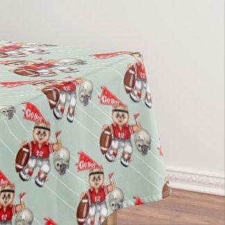 "FOOTBALL CAT BOY Tablecloth COLOR LIPS 60""x84"""