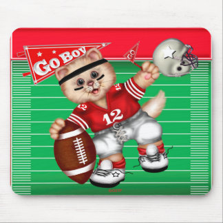FOOTBALL CAT CARTOON CUTE MOUSE PAD