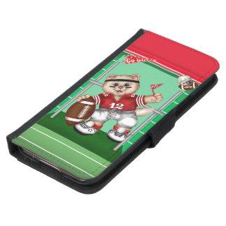 FOOTBALL CAT CUTE FUN Galaxy S5 Wallet Case 2