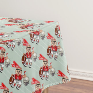 "FOOTBALL CAT GIRL Tablecloth COLOR LIPS 52""x70"""