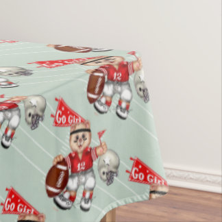 "FOOTBALL CAT GIRL Tablecloth COLOR LIPS 60""x104"""