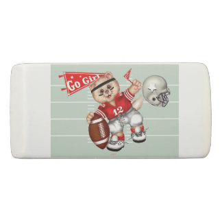 FOOTBALL CAT GIRL WEDGE Eraser