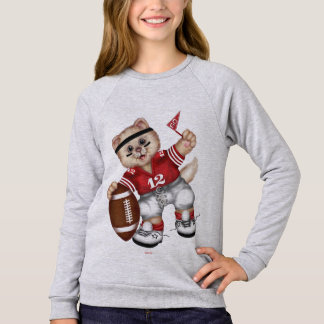FOOTBALL CAT Girls' American Sweatshirt