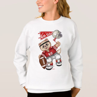 FOOTBALL CAT Girls' Hanes ComfortBlend® Sweatshirt