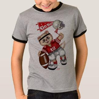 FOOTBALL CAT Kids' Basic Ringer T-Shirt