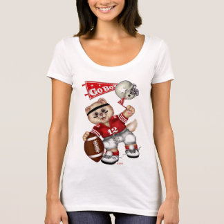 FOOTBALL CAT Women's Next Level Scoop Neck T-Shirt