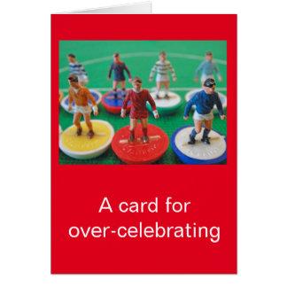 Football celebration card