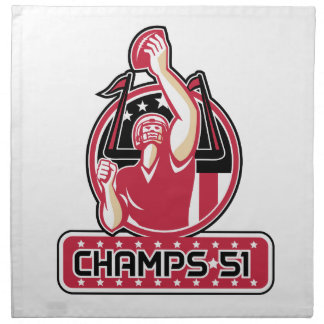 Football Champs 51 Atlanta Retro Napkin