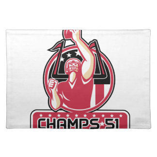 Football Champs 51 Atlanta Retro Placemat