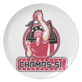Football Champs 51 Atlanta Retro Plate