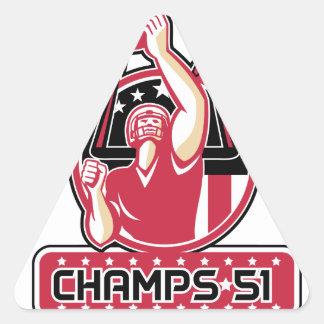 Football Champs 51 Atlanta Retro Triangle Sticker