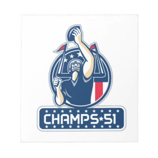 Football Champs 51 New England Retro Notepads