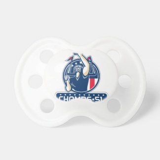 Football Champs 51 New England Retro Pacifier