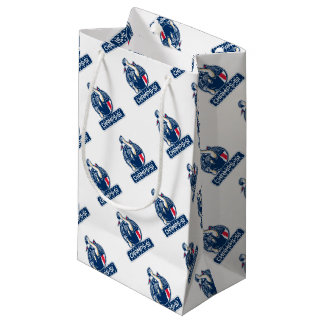 Football Champs 51 New England Retro Small Gift Bag