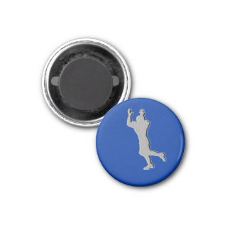 Football Chess TAG Receiver (Rook) - Blue-R 1 Inch Round Magnet