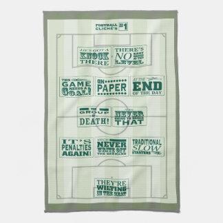 Football clichés No.1 tea towel