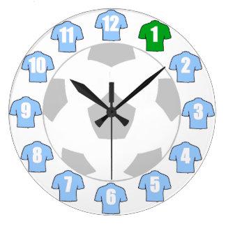Football Clock - with Sky Blue Shirts
