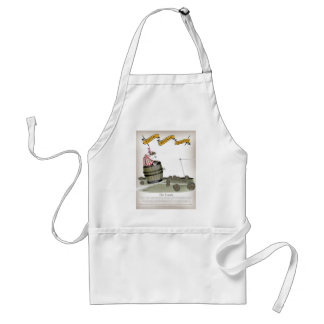 football coach red white stripes standard apron