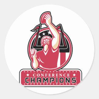Football Conference Champions Atlanta Retro Classic Round Sticker