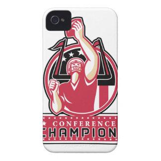 Football Conference Champions Atlanta Retro iPhone 4 Case-Mate Cases