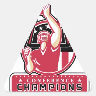 Football Conference Champions Atlanta Retro Triangle Sticker