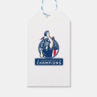 Football Conference Champions New England Retro Gift Tags