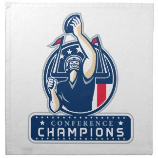 Football Conference Champions New England Retro Napkin
