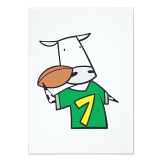 football cow personalized invitations