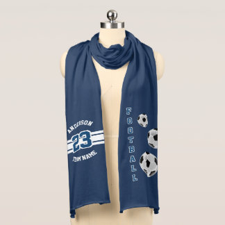 Football Dark Blue Letter Personalize Scarf