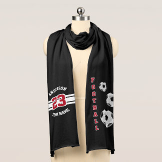 Football Dark Red Letter Personalize Scarf