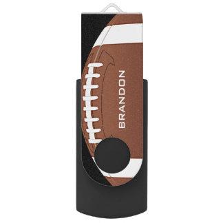 Football Design Flash Drive Swivel USB 2.0 Flash Drive