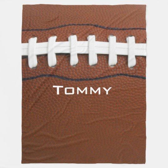 Football Design Fleece Blanket