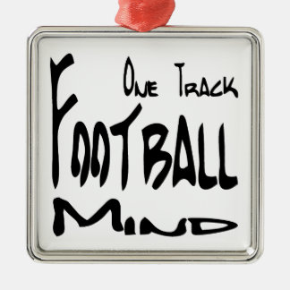 Football Design for Football Nuts Silver-Colored Square Ornament