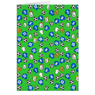 Football Design with Blue Shirts Card