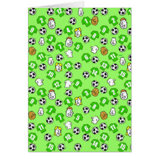 Football Design with Green Shirts Card