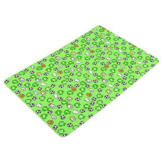 Football Design with Green Shirts Floor Mat