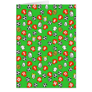 Football Design with Red Shirts Card