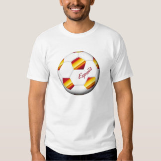FOOTBALL ESPAGNE ballon et drapeau de l'equipe nat Tee Shirt