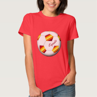 FOOTBALL ESPAGNE ballon et drapeau de l'equipe nat Tshirt