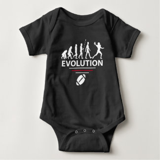 Football evolution baby bodysuit