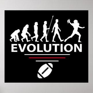 Football evolution poster