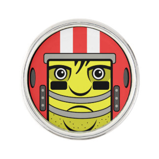 Football Face Lapel Pin