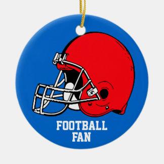 Football Fan Ornament Helmet Red Blue