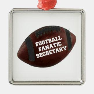 Football Fanatic Secretary Metal Ornament